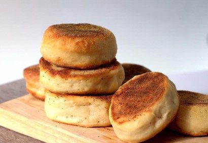 Sourdough English Muffins with Teff