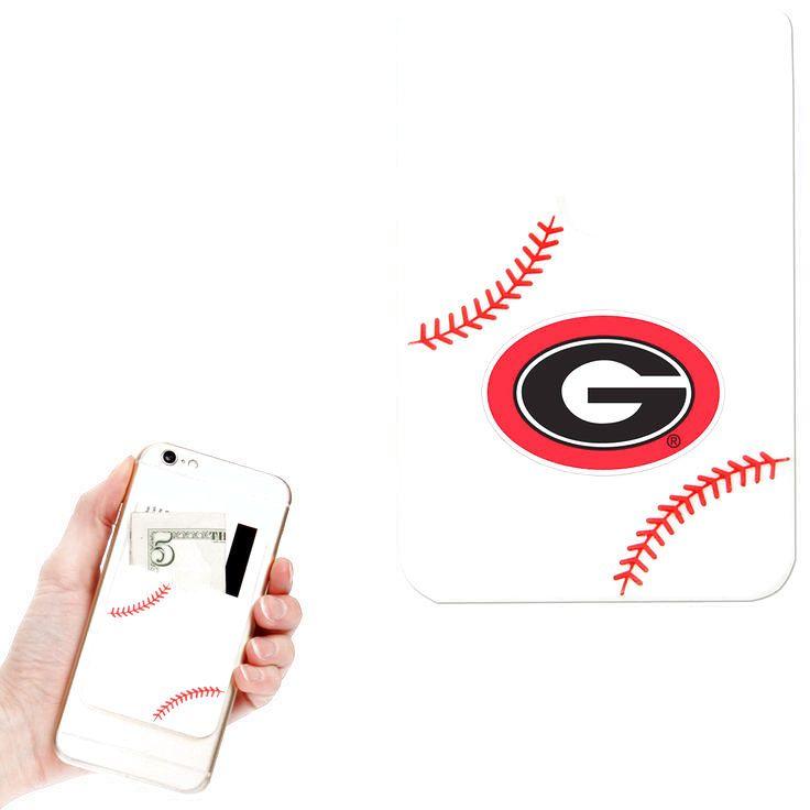 Georgia Bulldogs Baseball Sticker Wallet - White - $7.99