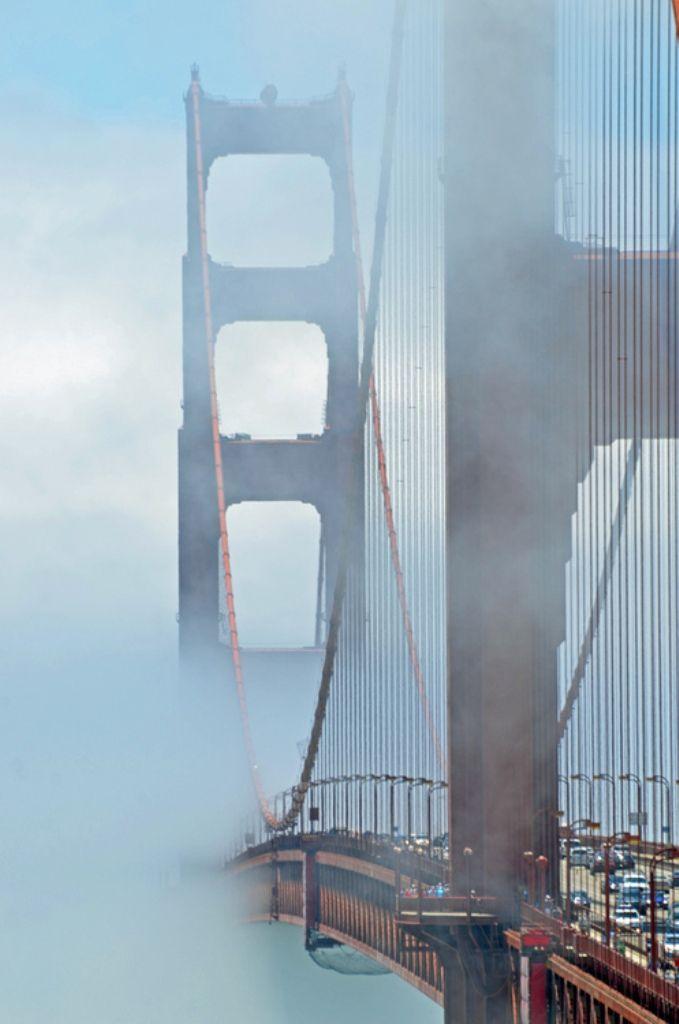 Golden Gate through the mist, San Francisco | California (by James Doherty)
