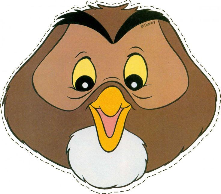Downloadable Printable Owl Mask