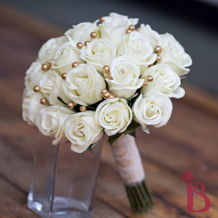 Gold Wedding Flowers: 48 Best Images About RealTouch Wedding Bouquet Collection