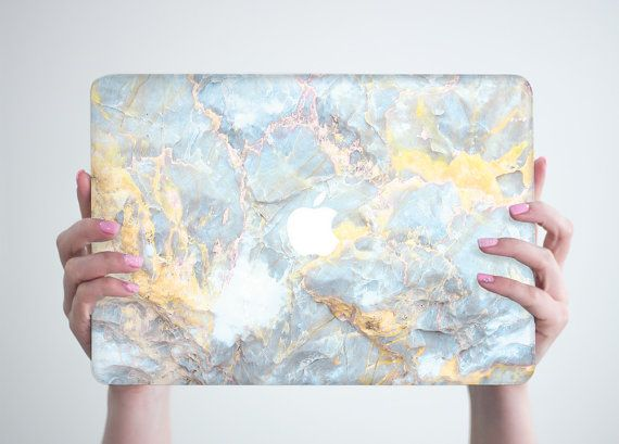 Stone Marble Macbook Pro 13 Hard Case Pro by RealDesignRocks