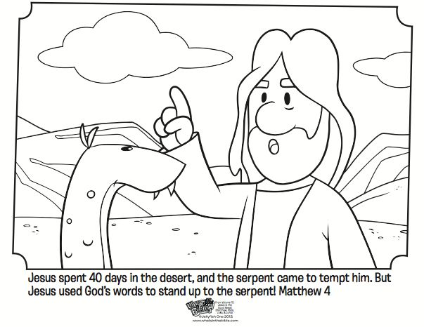 Jesus Tempted Bible Coloring Pages Kidsbeat Activities