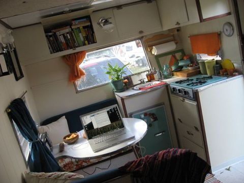Vintage Travel Trailer, Sailboat, & Not Much Else = Happiness