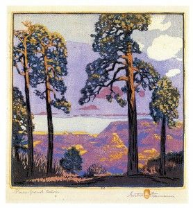 Pines Grand Canon by Gustave Baumann, 1912