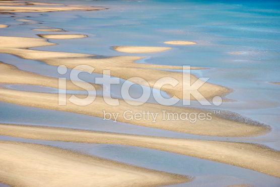 Abstract Nature Background - Sand & Sea, Wainui Estuary, NZ royalty-free stock photo