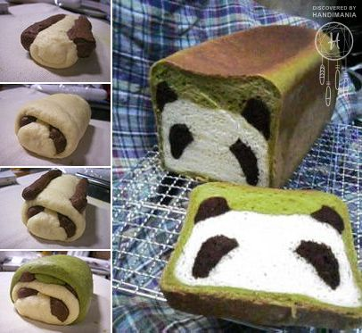 The coolest way to deal with little pickers is to bake a bread with panda face inside.