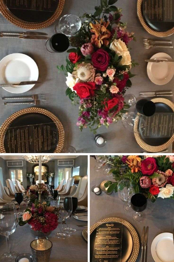 Elegant and luxurious 40th birthday celebration. Gold, black and grey colour scheme with rich reds and creams. #40th #40thbirthday #luxuryevent #luxurybirthday
