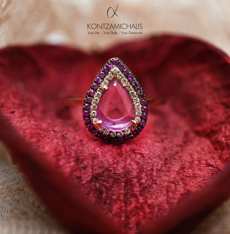 Such a majestic sapphire is guaranteed to leave everybody speechless… Enjoy your night out!  #KontzamichalisJewellery