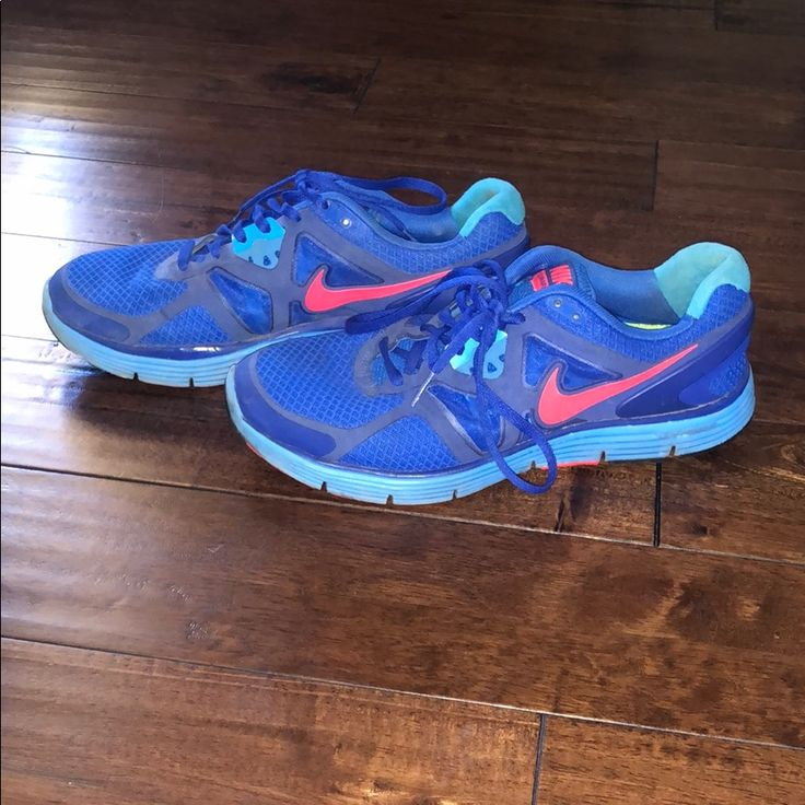 Nike Shoes | Colorful Lunarglide 3 Nike Running Shoes | Color: Blue/Pink | Size:…