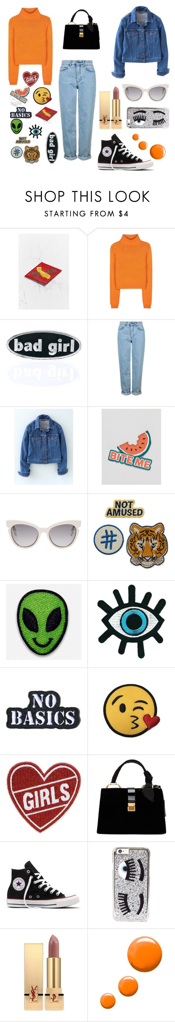 """""""No Basics"""" by nineties-wallflower ❤ liked on Polyvore featuring Urban Outfitters, Acne Studios, C&D Visionary, Topshop, Boden, Ohh Deer, Fendi, Hipstapatch, Hollywood Mirror and Melie Bianco"""