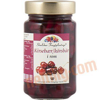 Kirsebær i rom - Marmelade