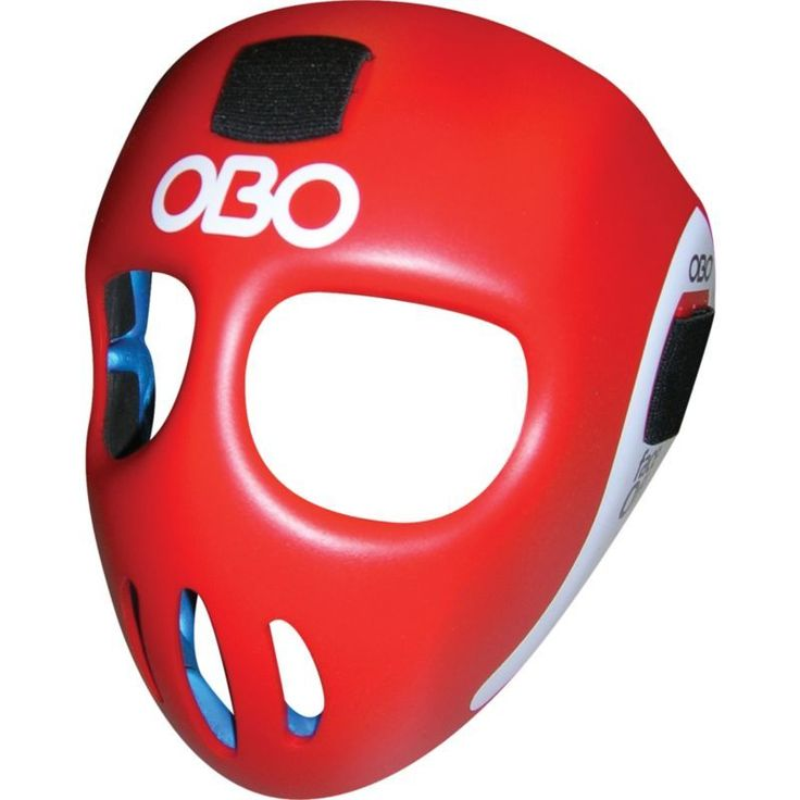 OBO FaceOff Field Hockey Mask, Red