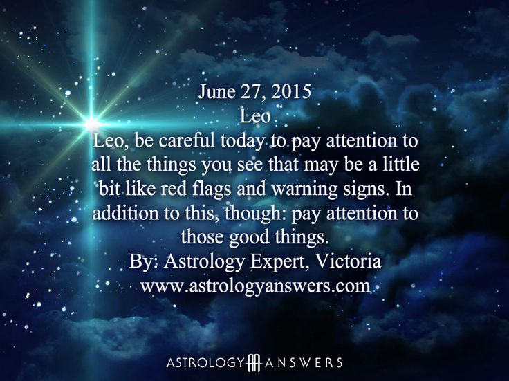 The Astrology Answers Daily Horoscope for Saturday, June 27, 2015 #astrology