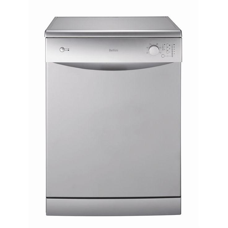Bellini WELS 4 Star 11.8L Per Wash Silver Dishwasher