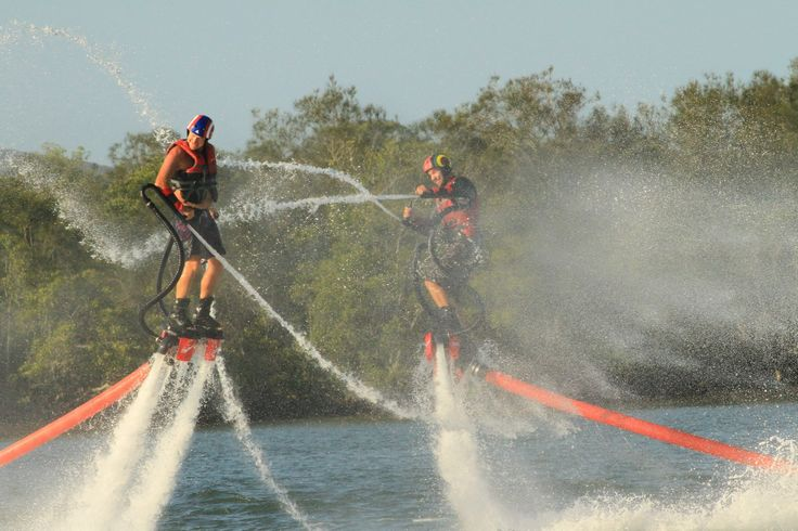 Amazing fun on Maroochydore River. Flyboard experience