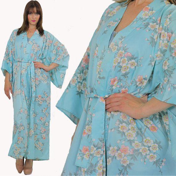 Kimono Robe Japanese Robe Festival Robe Boho by SHABBYBABEVINTAGE, $46.00