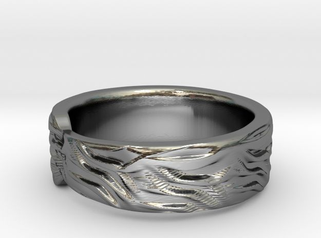Tiger Textured & Tapered Ring by Fluid_Designer