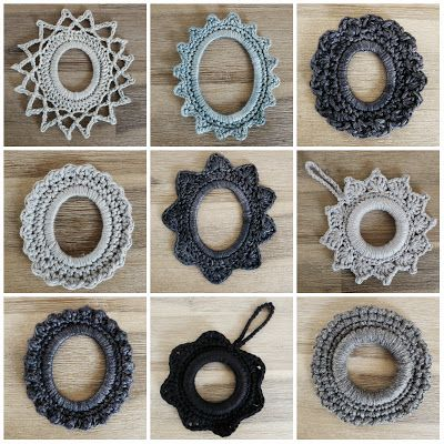 cute crochet frames