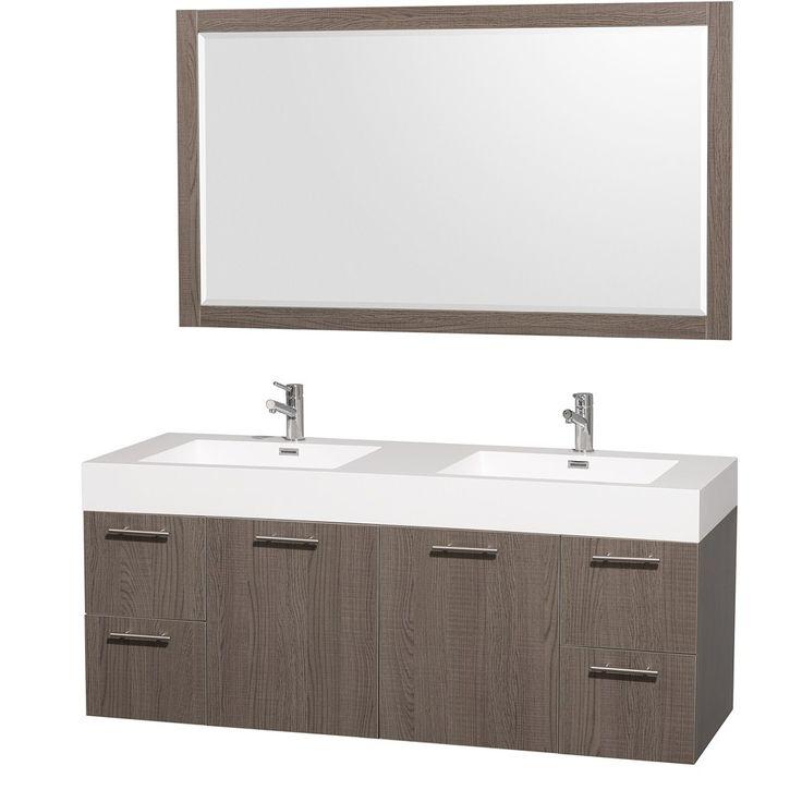 Bathroom Vanity- Gray Oak