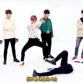 Taehyung is in an another world and Suga is angry while those tree dance   JUST BTS