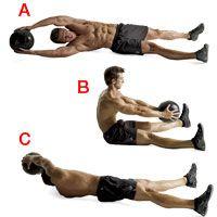 Medicine ball workout. Better than a wrecking ball twerkout.