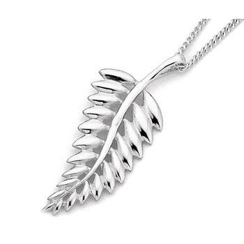 Sterling Silver Silver Fern Pendant