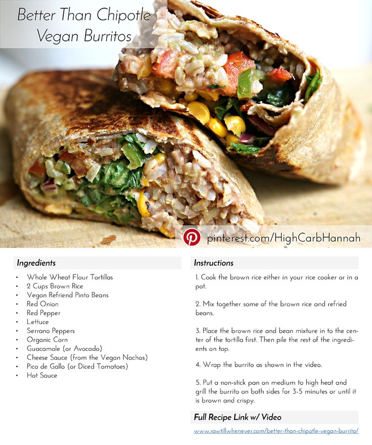 Vegan Burrito... Vegan Comfort Food At Its Best!