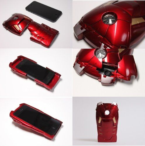 Iron Man iPhone 5 Case w/ LED Light Reflector. I want this!