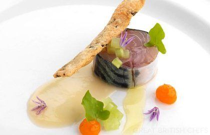 MACKEREL WITH SEAWEED CRACKER - This delicious recipe by chef Adam Stokes has been recreated for our website with kind permission from Great British Chefs