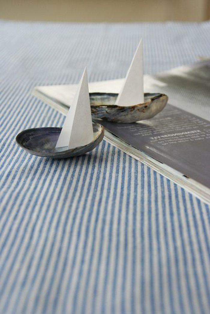 maritimes deco-basteln-segeln schiff-maritime handwerk ideen
