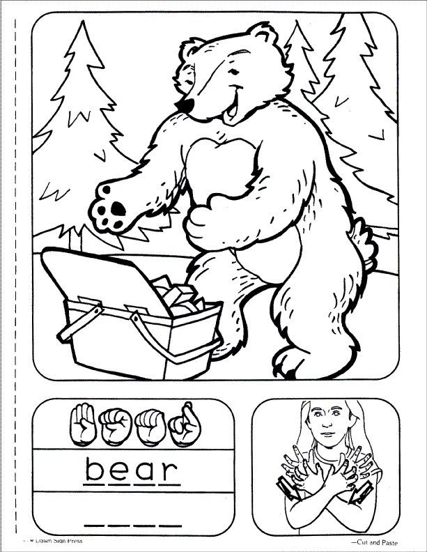 sign language childrens series sign language animals dawnsignpress asl coloringwriting
