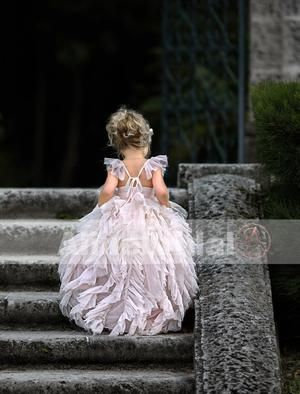 0e3fbb0ac49 Light Pink Fashion Ruffles Pleating Chiffon Adjustable Cap Sleeve Flower  Girl Dresses