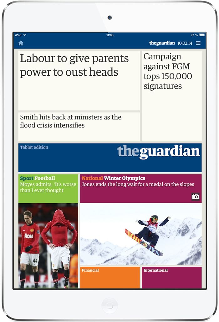 The Guardian and Observer iPad edition. More on www.magpla.net MagPlanet #TabletMagazine #DigitalMag