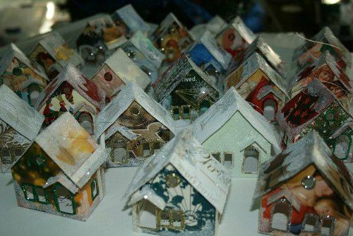 Christmas Card Houses---a way to reuse Christmas cards after Christmas