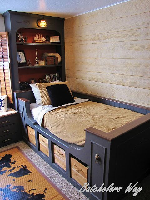 If my boys ever decide they want a pirate themed room, this is the site to look at!  Cheap and lots of instructions.