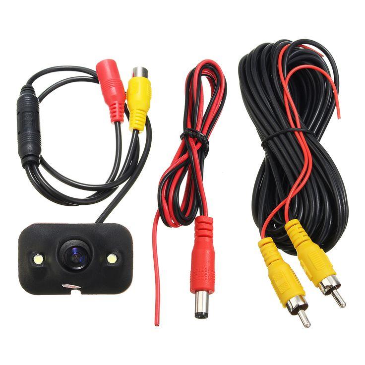 Car 170 Degree HD Rear View Reverse Backup Parking Camera LED Night Vision Waterproof