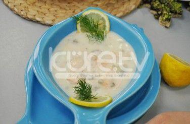 Kremalı Mantarlı Somon Çorbası