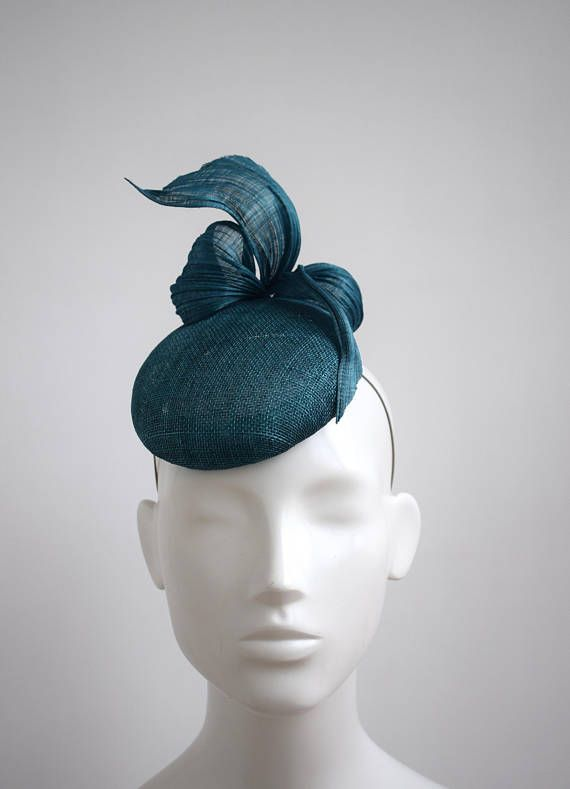 c6501c43 Teal Green Blue Cocktail Hat - Teal Green Blue Fascinator - Teal Hat - Silk  Headpiece - Wedding Fascinator - Race Day Hat - Ladies Day Hat in 2019 |  Hats ...