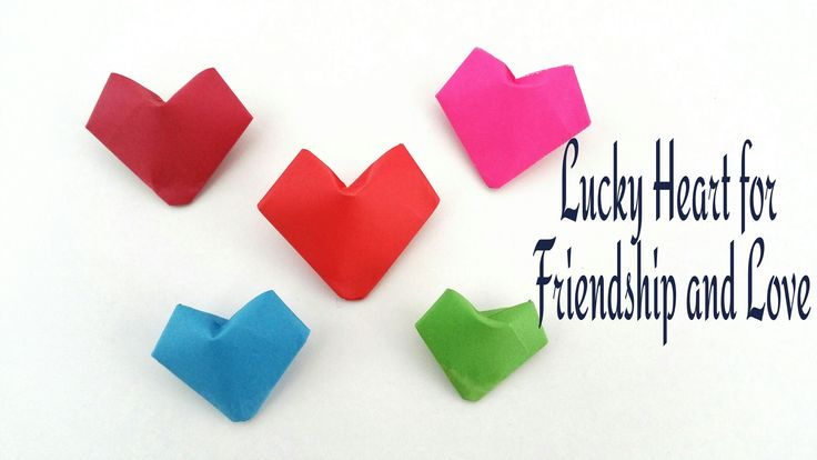 How to make a 3d paper lucky puffy heart for friendship for Romantic origami ideas