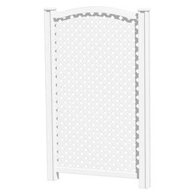 Barrette 61 in x 37 1 4 in white vinyl outdoor privacy for Outdoor privacy screen white