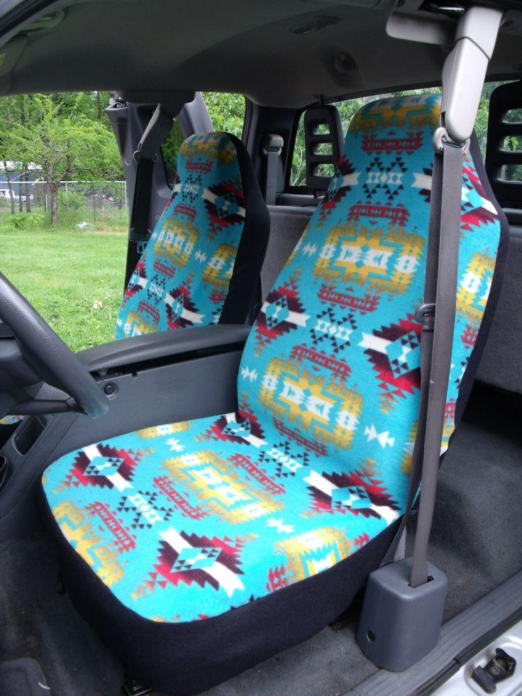 Tribal print seat covers!