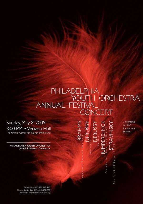 Philadelphia Youth Orchestra • 2005 • Stravinksy: The Firebird Suite (1919) • Paone Design Associates