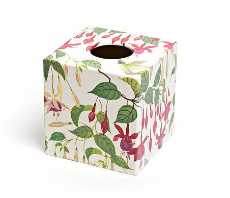 Pink Fuchsia Tissue Box from Crackpots Tissue boxes and Bins