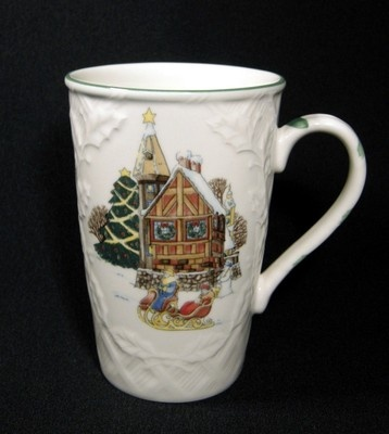 Mikasa English Countryside Christmas Sleigh Ride Cappuccino Mugs | eBay