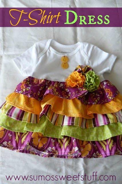 Easy Upcycle : Ruffles T-shirt Dress