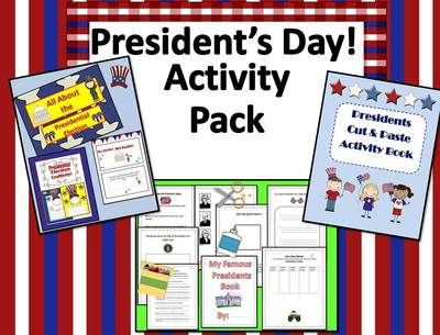 President's Day Bundle! Mini Booklet, Slide Show, Cut-n-Paste and More! from EngagingLessons on TeachersNotebook.com