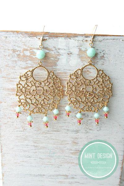 *orient dream* vergoldete Ohrringe Einzelstück! von Mint Design auf DaWanda.com