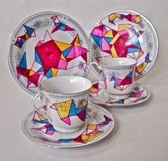 Ceramic plates and cops