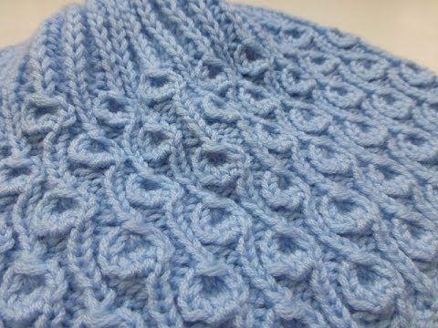 "Knit with eliZZZa * Knitting Stitch ""Dandelion"" * Brioche Stitch - YouTube"